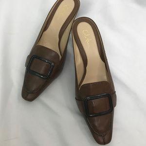 Cole Haan Brown Sydney Mule Shoes Heels